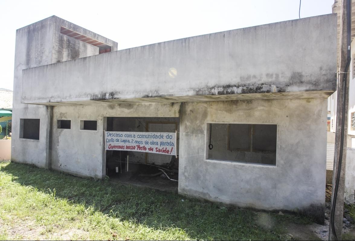 Posto de Saúde do Canto da Lagoa está em obras há três anos - Marco Santiago/ND