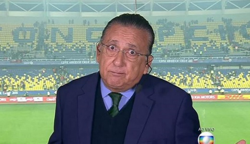 Galvão Bueno não gostou do encerramento, mas não se tocou que o áudio estava ligado… – Foto: Reprodução