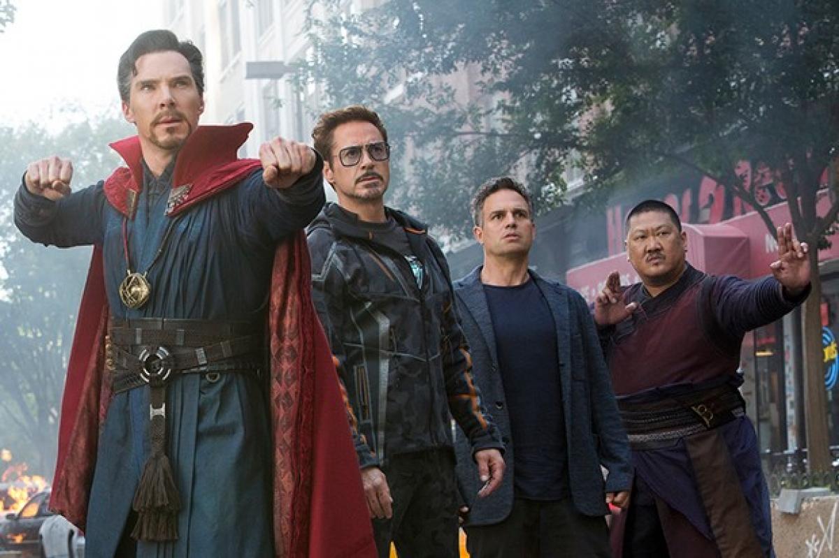 Os atores Benedict Cumberbatch, Robert Downey Jr, Mark Ruffalo e Benedict Wong foram dirigidos pelos irmãos Joe e Anthony Russo - Divulgação/ND
