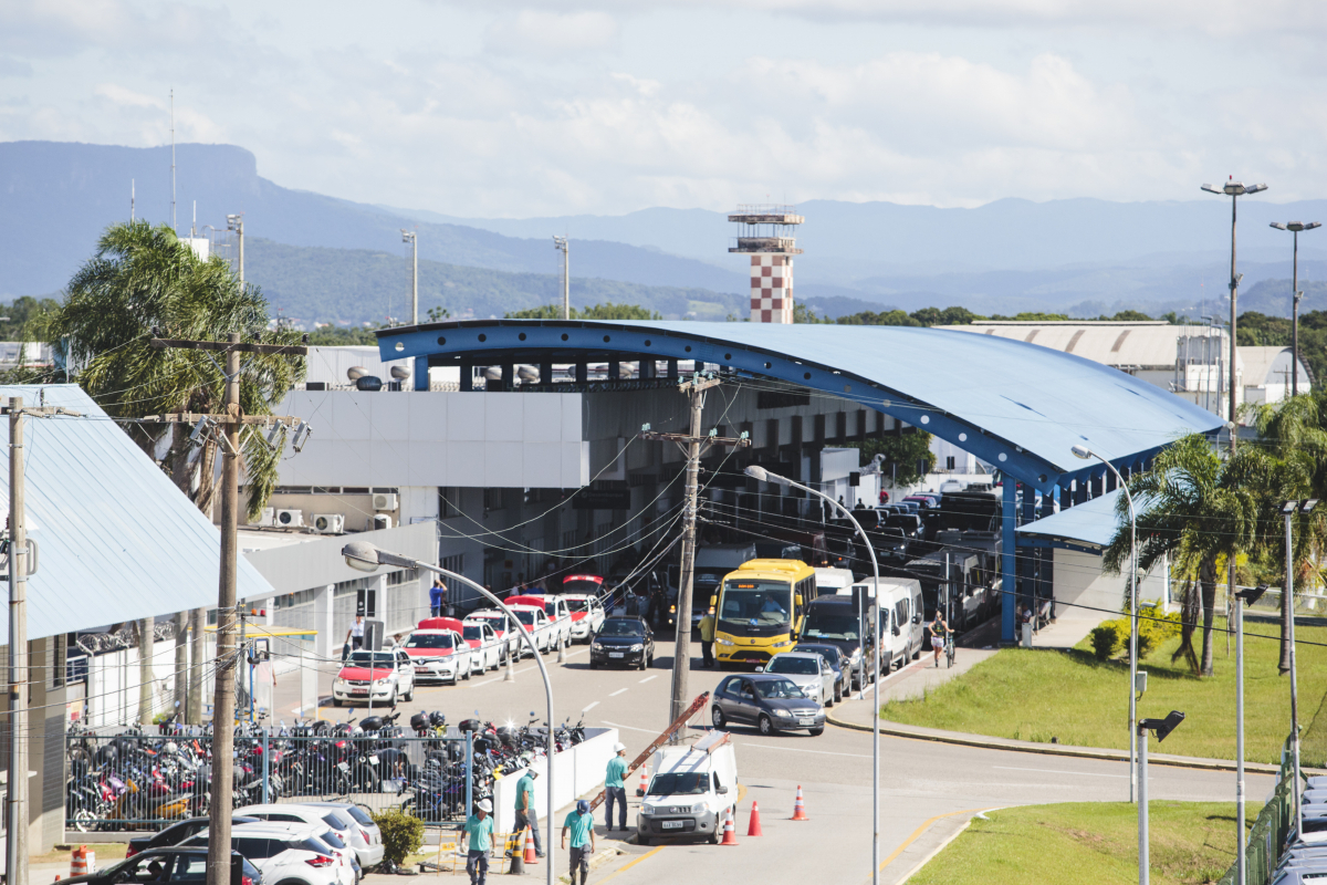 Construção do acesso ao novo terminal deve reduzir o fluxo pela SC-405 - Daniel Queiroz/ND