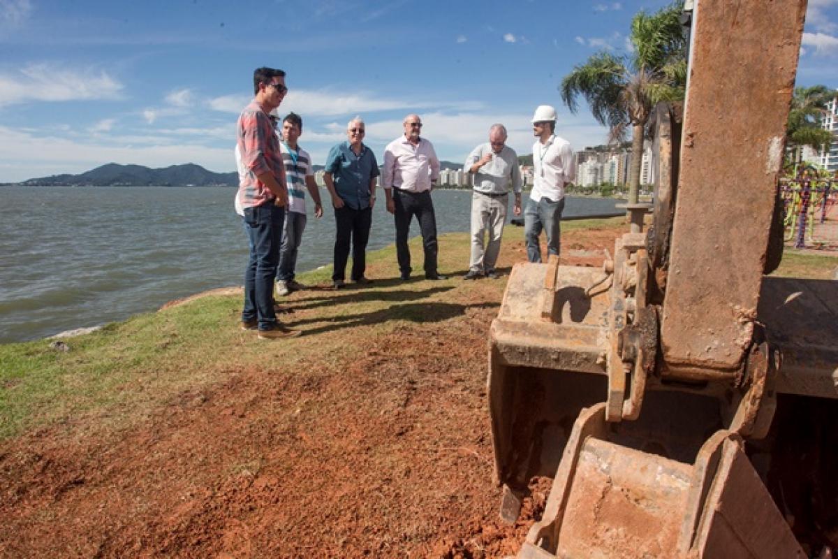 Sistema de balneabilidade que será implantado na baía Norte - Marco Santiago/ND