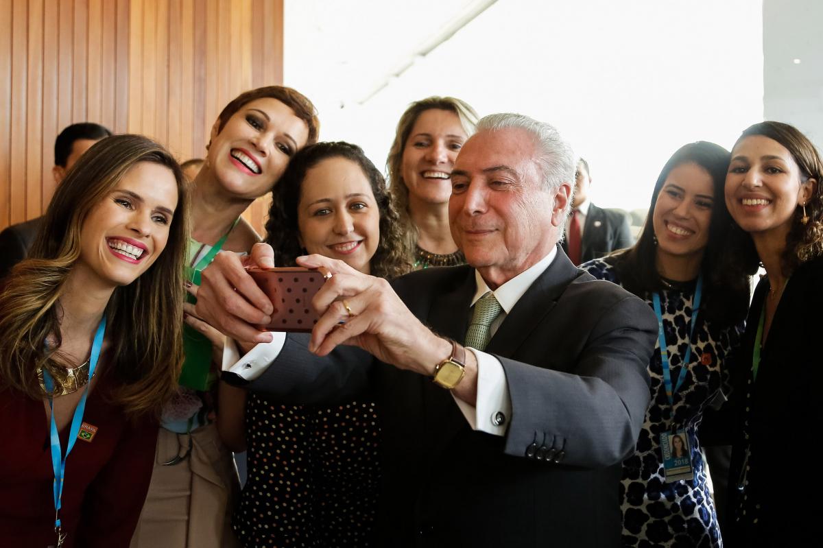 Nos primeiros meses deste ano, Temer tentou melhorar sua imagem - Marcos Corrêa/PR