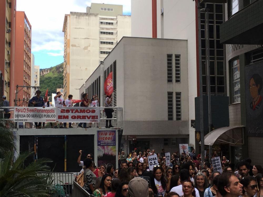 Greve dos servidores - Felipe Alves/ND