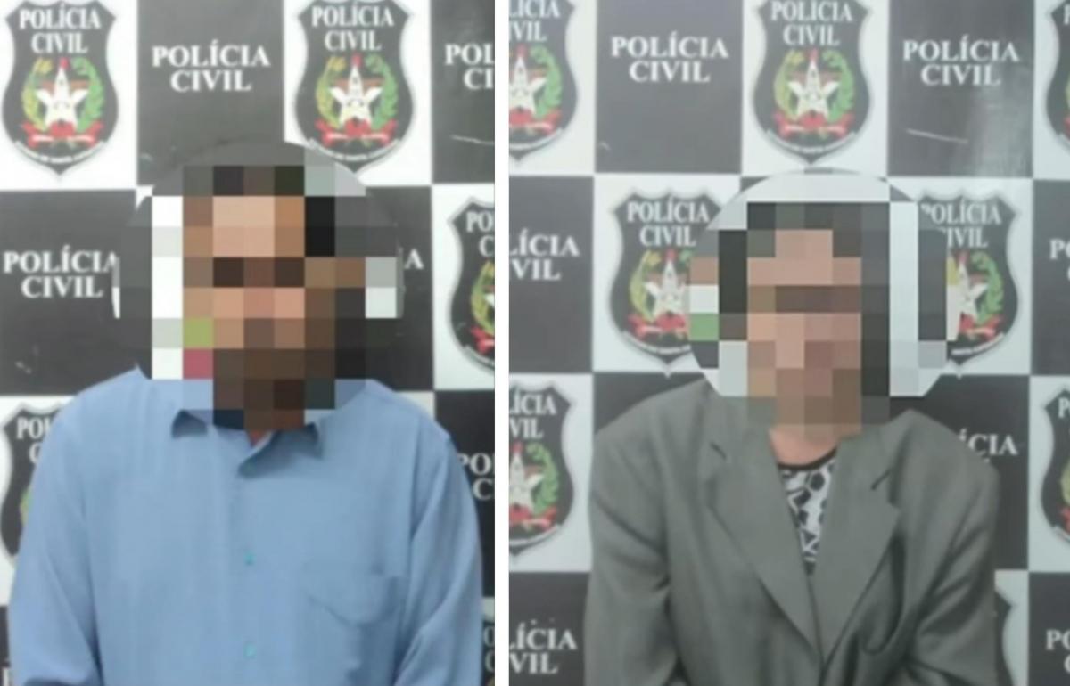 Casal foi preso em Foz do Iguaçu, no Paraná - Reprodução/RICTV/Divulgação/ND