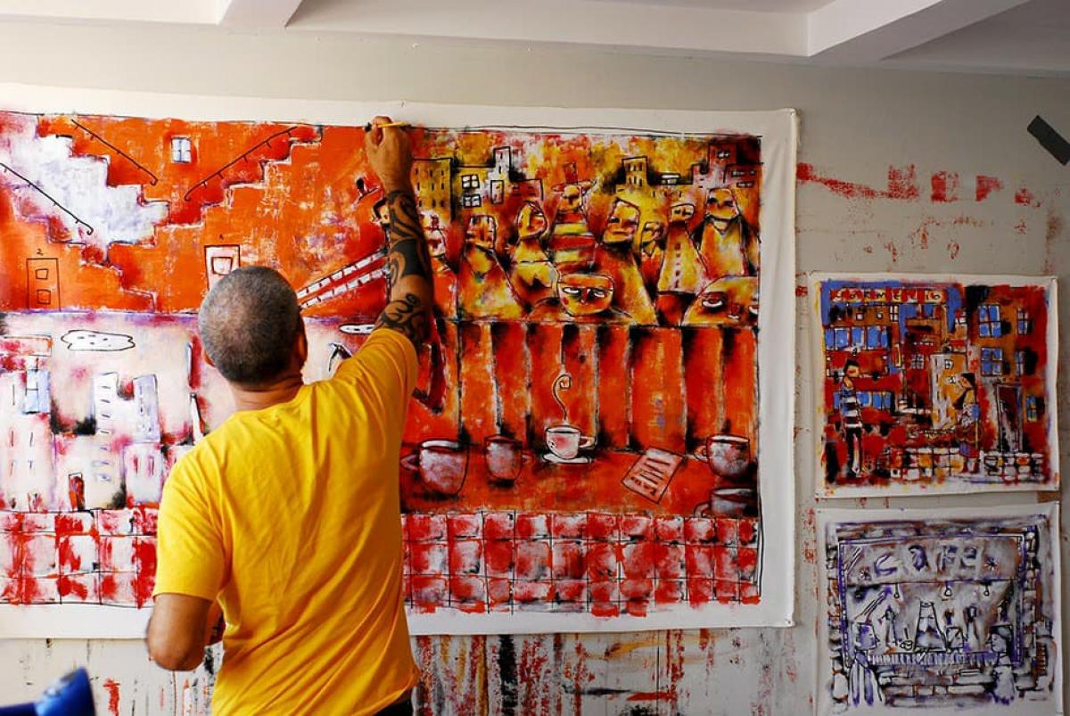 Obras do artista trazem  um olhar do dia a dia, das pessoas  que circulam ao outdoor  - Divulgação/ND