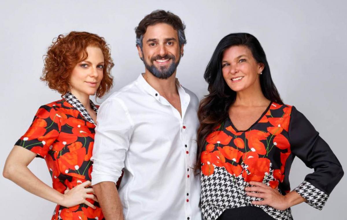 Os atores Maria Eduarda de Carvalho, Danilo Sacramento e Cristiana Oliveira - Nana Moraes/Divulgação/ND