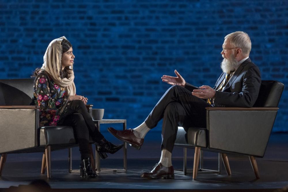 Uma das entrevistadas de David Letterman foi a ativista de direitos humanos Malala Yousafzai - Divulgação/ND