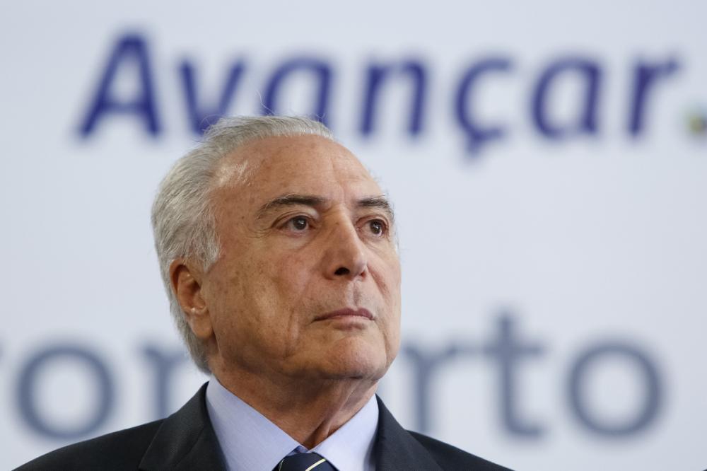Presidente Michel Temer participou da cerimônia de inauguração do novo aeroporto de Vitória, no Espírito Santo - Alan Santos/Agência Brasil/Divulgação/ND