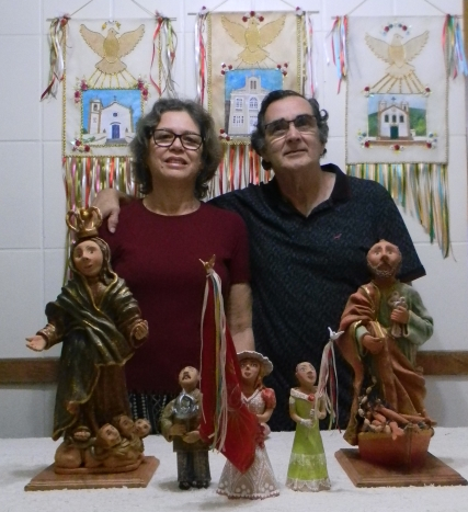 O casal de artistas Osmarina e Paulo Villalva - PMF/Divulgação/ND