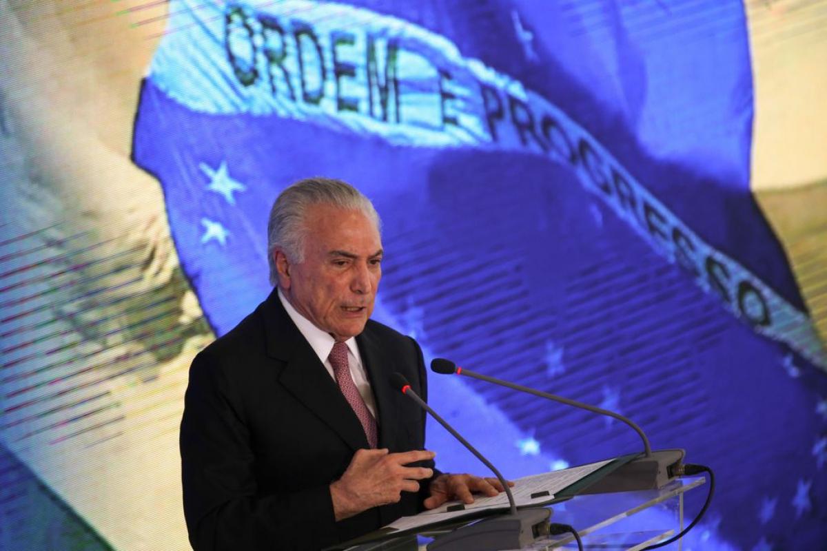 Temer fez balanço dos dois anos de governo nesta terça-feira - Fabio Rodrigues Pozzebom/Agência Brasil/Divulgação/ND