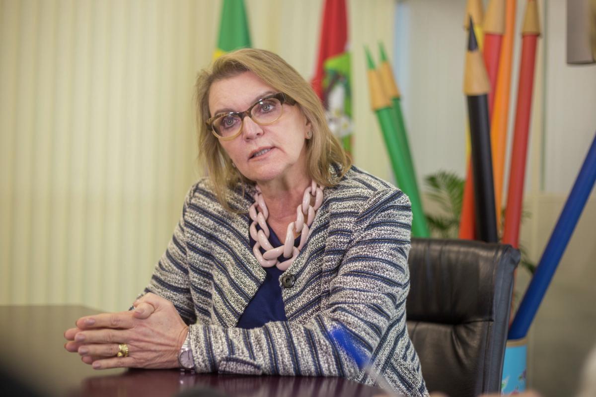A professora Simone Schramm está há um mês no cargo de Secretária de Educação de Santa Catarina - Flávio Tin/ND