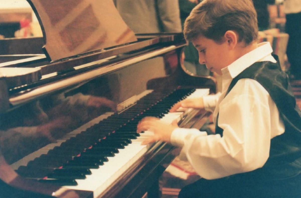 Pablo em um concerto realizado em 1998 - Arquivo Pessoal/ND