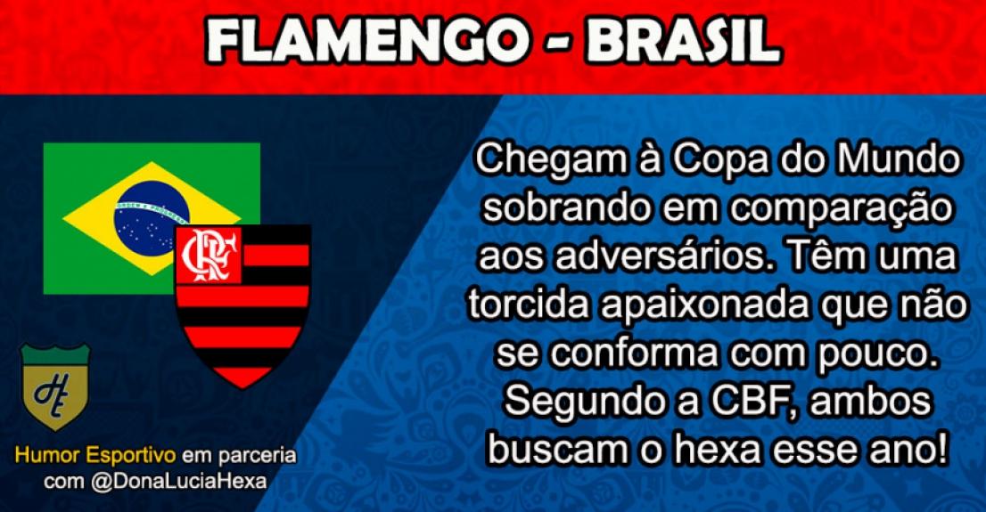 Humor na Copa: comparações de clubes brasileiros com seleções do Mundial da Rússia  -  Reprodução