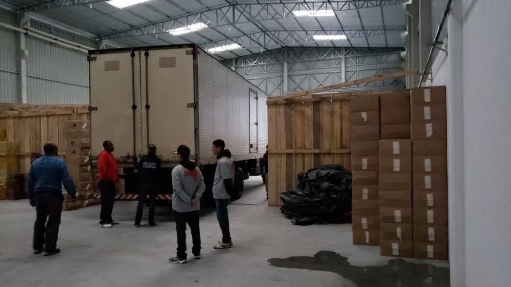 Galpão onde a mercadoria era mantida em Tijucas - PF/Divulgação/ND