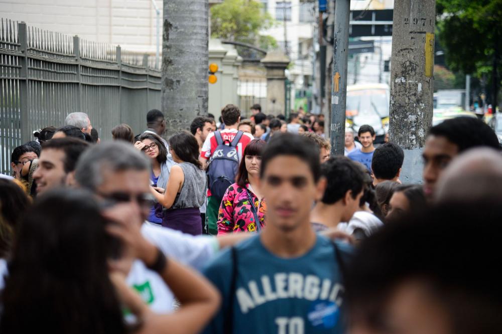 Estudantes chegaram para o último dia de provas - TS/Divulgação/Fotos públicas/ND