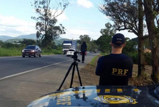 Em quatro dias de operação,  radares fizeram 4.364 imagens de veículos em excesso de velocidade - PRF/Divulgação/ND