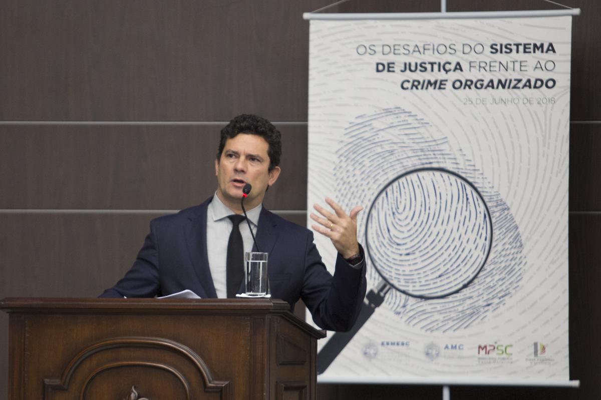 Sergio Moro em Florianópolis - Daniel Queiroz/ND