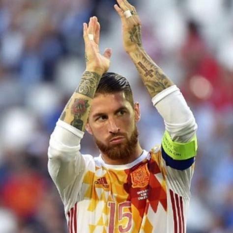Sergio Ramos se apresentou à Espanha (Foto: Reprodução) -