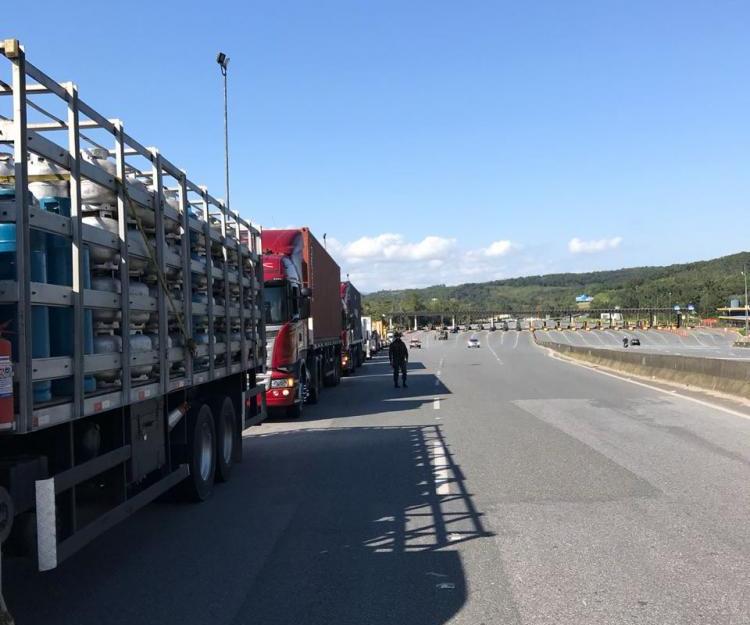 Greve dos caminhoneiros em SC  - 14ª Brigada de Infantaria/Divulgação/ND