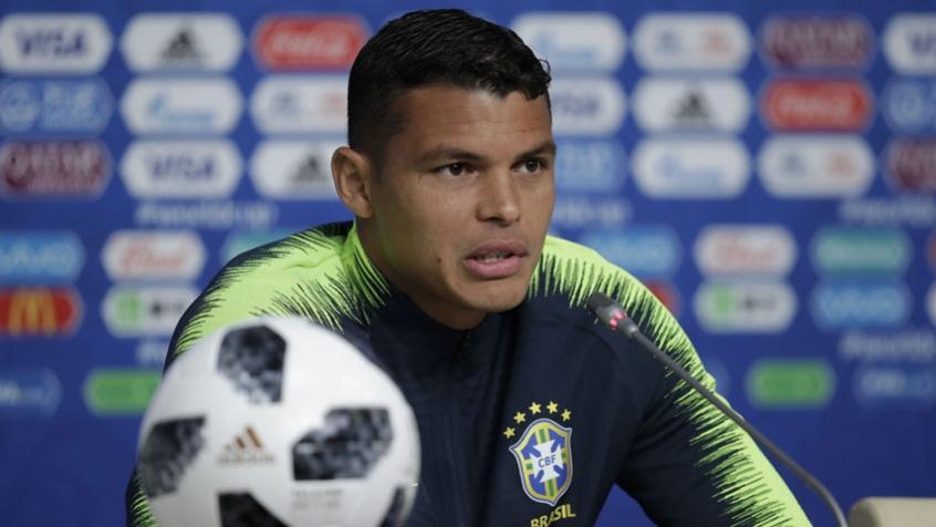Thiago Silva falou com a imprensa nesta quinta-feira (Foto: Pedro Martins / MoWA Press) -