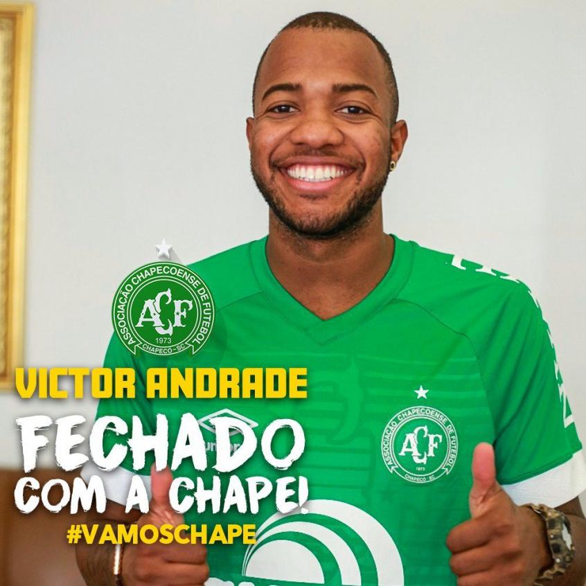 Victor Andrade acerta com a Chapecoense para disputar o Brasileirão (Foto: Sirli Freitas)