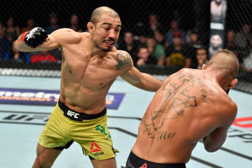 Aldo não vencia por nocaute técnico no UFC há quase cinco anos, quando bateu Chan Sung Jung(Foto: Getty Images)