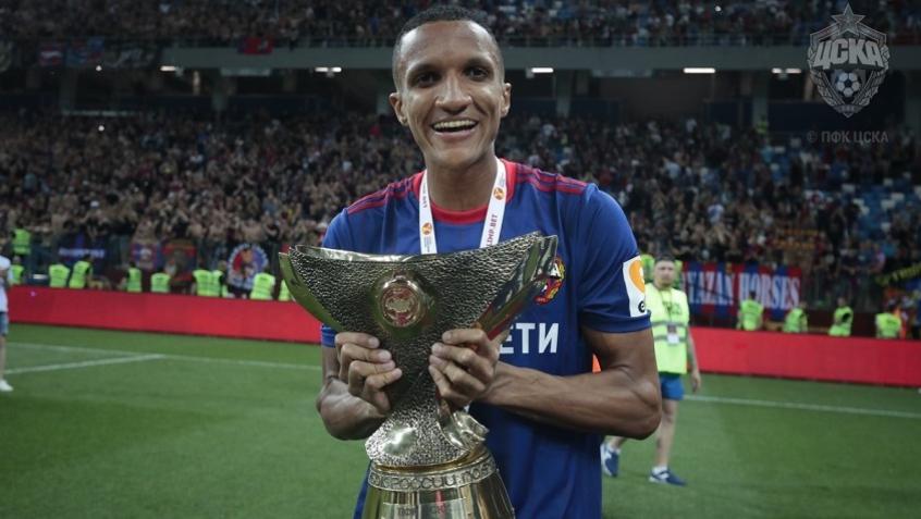 Rodrigo Becão estreou pelo CSKA Moscou na conquista da Supercopa da Rússia (Foto: CSKA Moscou/Divulgação)