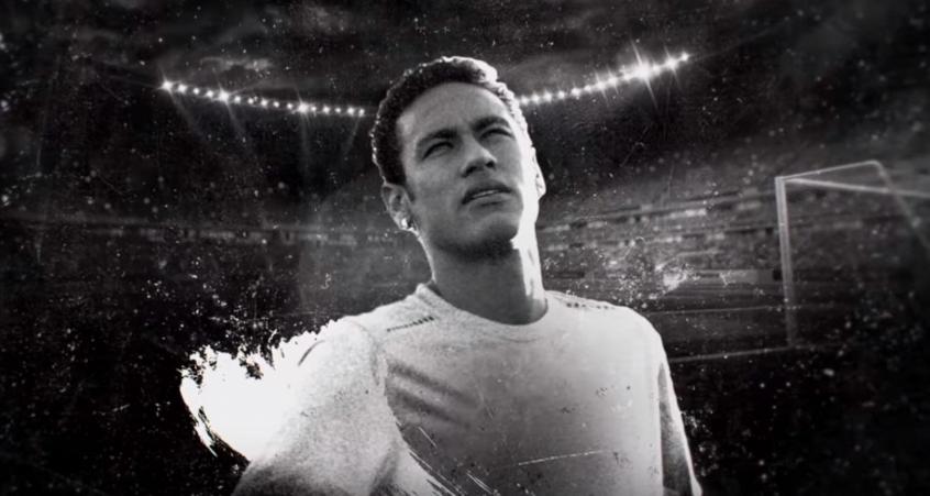 Neymar em campanha publicitária da Gilette