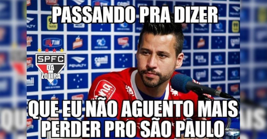 Os melhores memes de Cruzeiro 0 - 2 São Paulo - Reprodução