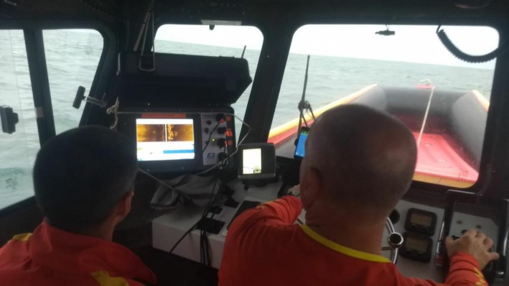 Mergulhadores contam com apoio de sonar para auxiliar no trabalho - Divulgação/CBM/ND