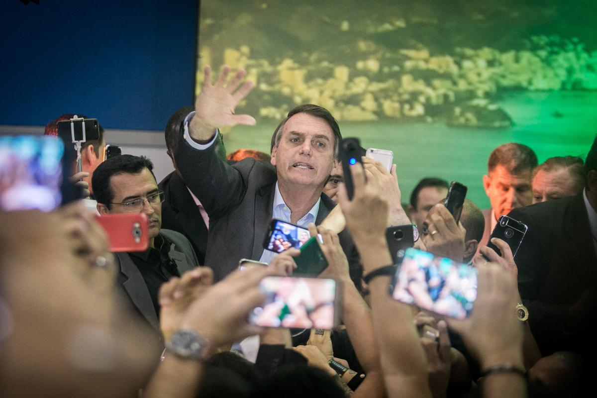 Bolsonaro participou de convenção neste domingo - Raquel Cunha/Folhapress