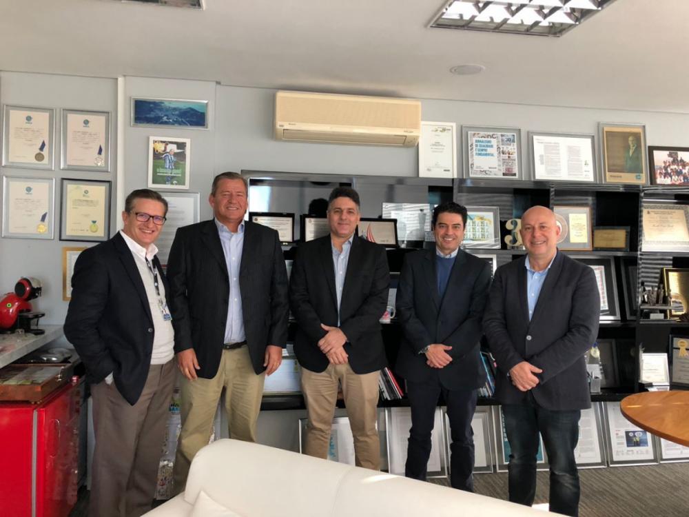 Diretores da Cassol foram recebidos no Grupo RIC - Viviane de Gênova/ND