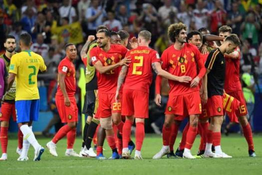 Brasil 1x2 Bélgica nas quartas: veja a campanha  -  AFP
