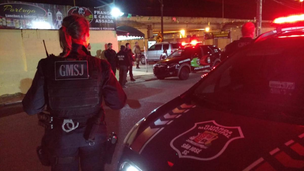 Operação reuniu agentes da Guarda Municipal, Polícia Civil e Polícia Militar em São José - Guarda Municipal/Divulgação/ND