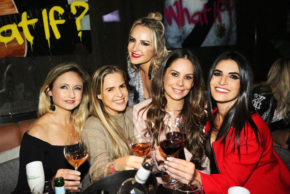 Marcia Bastos, Saviany Monteiro, Tatiana, Rose Campos e Debora Salvadori (em cima) - Darline Rodrigues