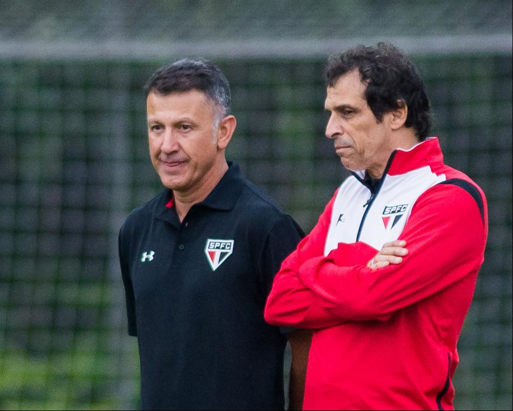 Milton Cruz ao lado de Juan Carlos Osorio, na época de São Paulo - Fotoarena/Folhapress