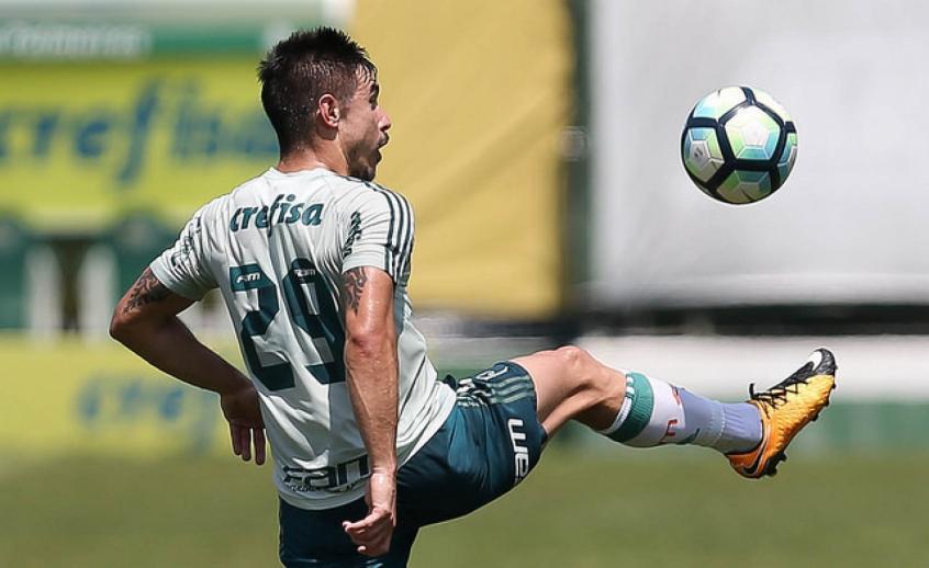 Willian, que entrou no lugar de Keno, fez o único gol da atividade - FOTO: Cesar Greco/Palmeiras -
