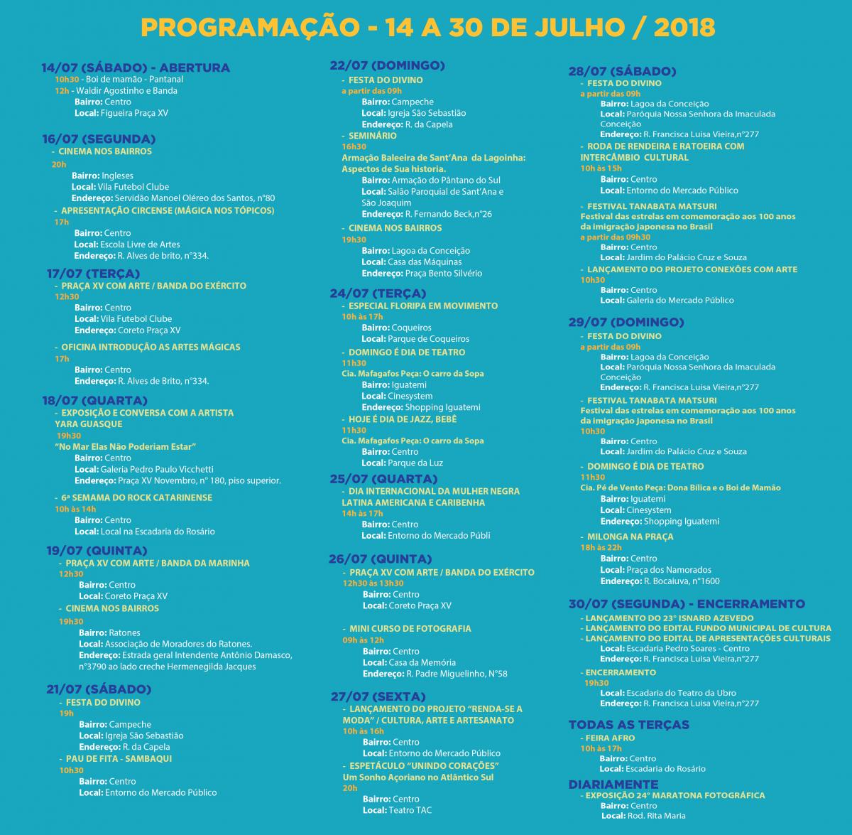 Programação do aniversário da Fundação Franklin Cascaes - Divulgação/ND