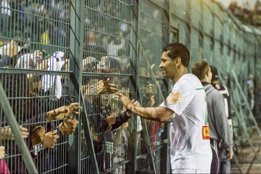 André Santos, em jogo comemorativo no Scarpelli, em 2012 - Marco Santiago/ND
