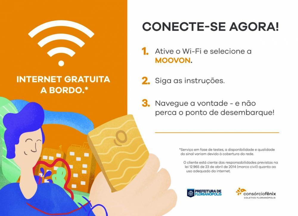 Wi-fi gratuito em ônibus de Florianópolis - Consórcio Fênix/Divulgação/ND