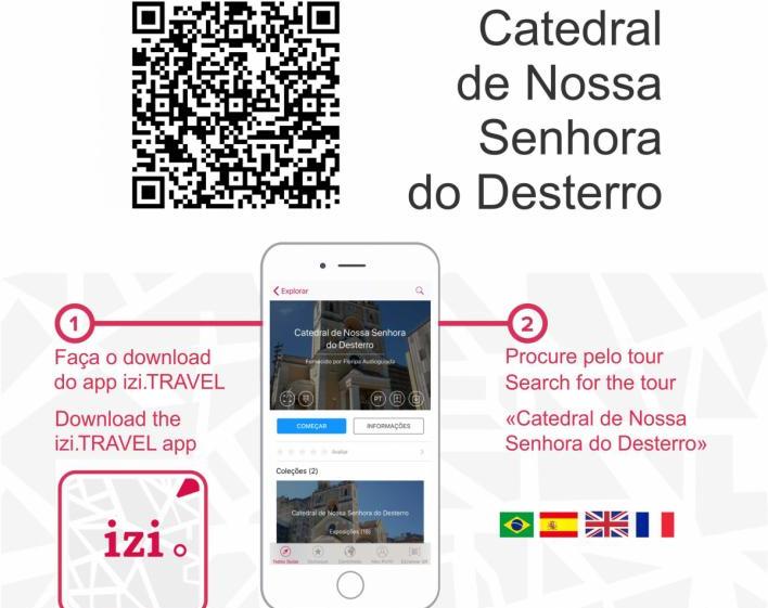 Tour Catedral de Nossa Senhora do Desterro é um audioguia em quatro idiomas - Divulgação/ND