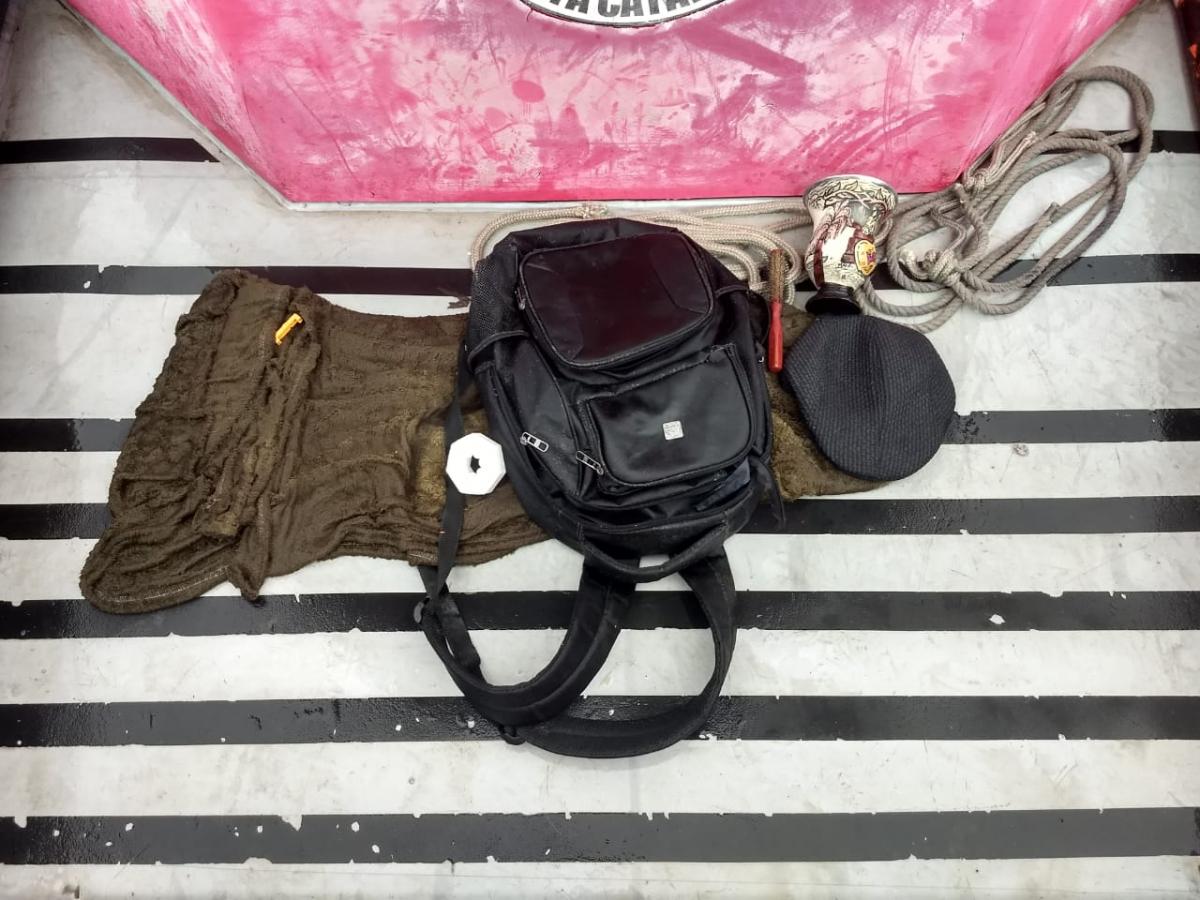 Os pertences do piloto José foram encontrados pelo Corpo de Bombeiros - Corpo de Bombeiros/Divulgação/ND