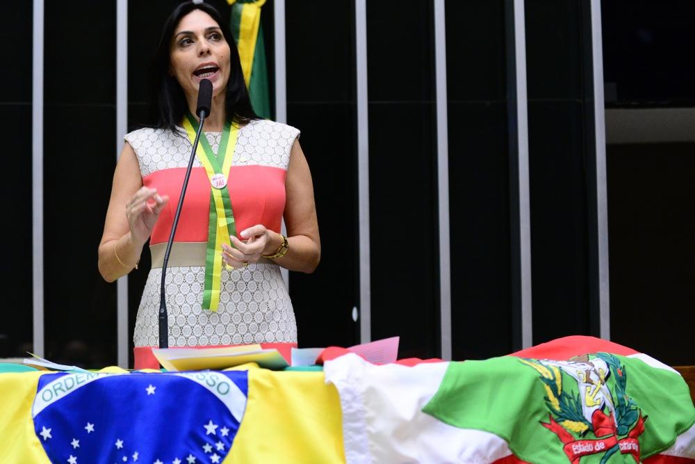 Geovânia de Sá em plenário - Nilson Bastian/Câmara/ND