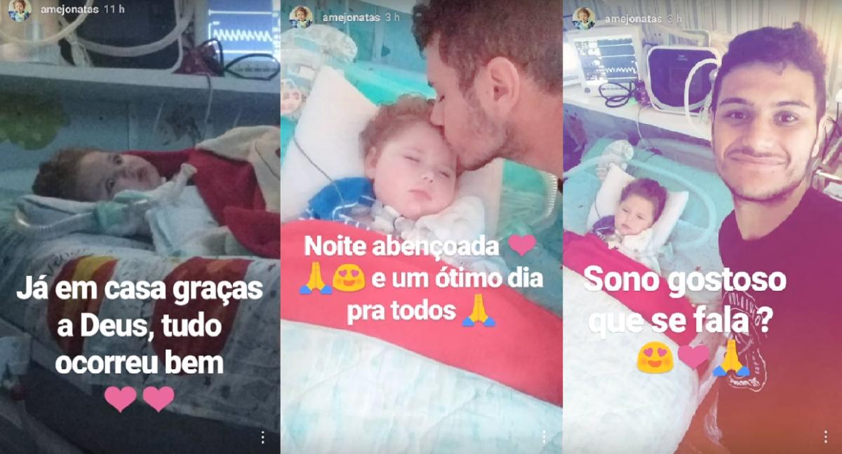 Pai de Jonatas aparece em postagens em perfil de rede social ao lado do filho em casa - RICTV Record/Reprodução/ND