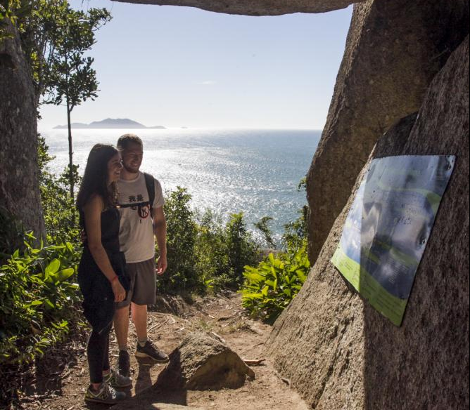Grupo de Florianópolis aproveita lindo cenário do Caminho Brasileiro de Santiago - Marco Santiago/ND