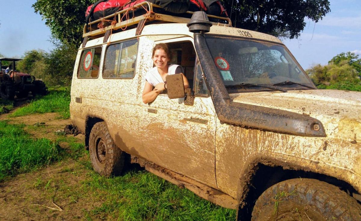 No Sudão do Sul, Marina Barardi percorreu longas distâncias para vacinar a população do país mais jovem do mundo - Arquivo Pessoal/Divulgação/ND