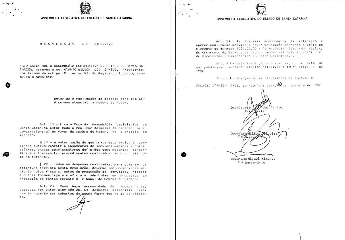 Resolução DP 090 de 1992 - Divulgação/ND