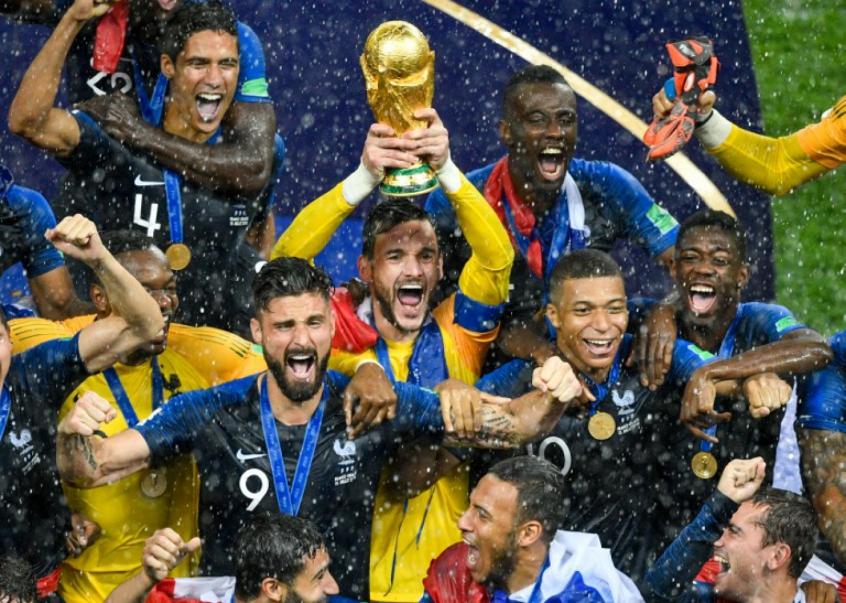 França teve posse de bola de apenas 39% na final, contra 61% da Croácia (Foto: AFP)