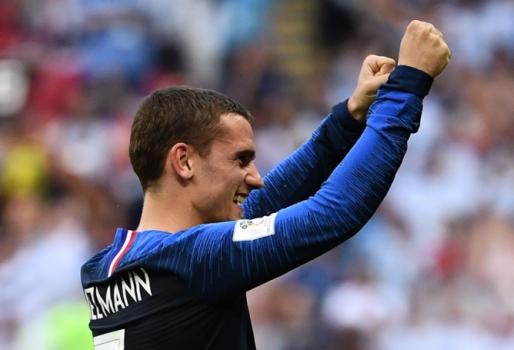 Antoine Griezmann celebra o primeiro gol da França na Copa  -  (Foto: FRANCK FIFE / AFP)