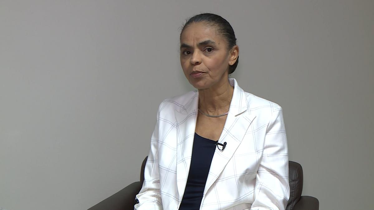 """Marina Silva afirmou que o presidente Jair Bolsonaro promove um """"desmonte total"""" na área do meio ambiente. – Reprodução/ND"""